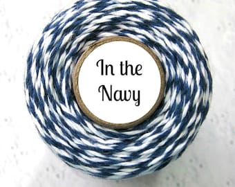 Navy Blue Trendy Bakers Twine -  In the Navy or Classic Navy - Packaging, Crafting, Card Making, DIY, Gift Wrapping, String, Baking