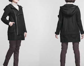 Double placket and long coat