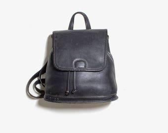 Vintage Coach Backpack / Mini Coach Backpack / Leather Coach Bag / Black Leather Coach Purse / Black Leather Backpack / Mini Backpack