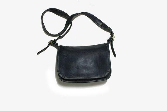 Vintage Coach Bag / Coach Patricia's Legacy Bag / Black Leather Coach Purse / Coach Messenger Bag