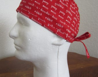 Farm Sounds - Traditional Tie-back Surgical Scrub Hat