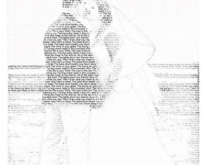 1st Anniversary Gift First Dance Lyrics First Dance Songs Wedding Vow Art Wedding Song Lyrics Paper Anniversary on Textured Paper 8.5x11