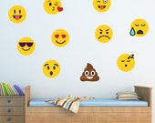 Emoji Wall Decal, Boys Girls Wall Decal, WD76