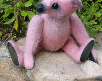 Pretty in Pink - 13 inch hand dyed pale pink mohair
