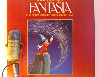 "ON SALE Mickey Mouse Vintage Vinyl 1960s All Ages Childrens Baroque Classical Stage & Screen  ""Fantasia"" (1982 Buena Vista re-recorded reiss"