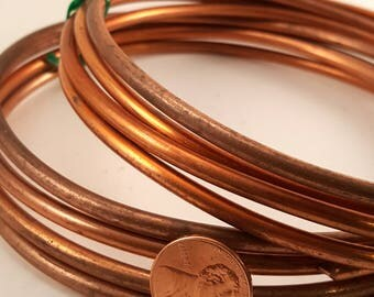 6 gauge copper wire - thick - heaviest we carry.