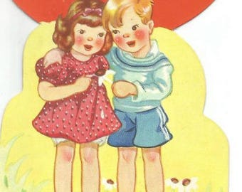 1930s Valentine Card Looks Like We're Meant to be Valentines Carrington Card A in Tree Vintage Valentine's Day Card Valentine Ephemera