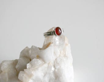 Red Onyx Sterling Ring