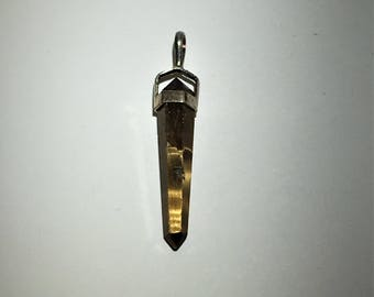 Tigerseye Crystal Point Pendant