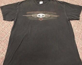 Vintage Men's Harley Davidson Tshirt Size L Distressed St. Petersburg Florida