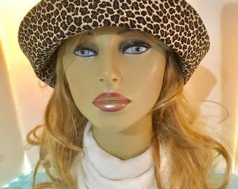Cloche Hat, Bucket Hat, Ladies Sun Hat, Sun Hat, Leopard, Cheetah
