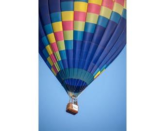 Hot Air Balloon and Bucket at the Battle Creek Michigan Balloon Festival No.6841 A Fine Art Aviation Photograph