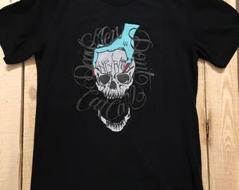 Dead Men Don't Cat Call + Black on Black Edition + Unisex T-shirt + XS-4X   (((Lowwbones)))