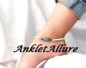 Anklet Ankle Bracelet Blue Stone Ankle Bracelet Beach Proof Anklets for Women