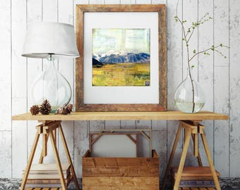"""Colorado Mountain Print, Mixed Media Print, Crested Butte, Landscape Print, Colorado Gift, Fall Print 8""""x10"""" or 11""""x14"""", """"Kebler Pass II"""""""