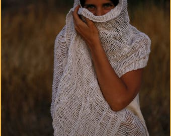 Raw Cotton Natural Scarf