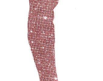 Custom Pink Thigh High Heel,Custom Swarovski High Heels,Pumps customed with Swarovski ,Custom Bedazzled High Heel,Swarovski Pumps, Boots