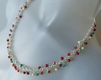 Festive Christmas Holiday necklace