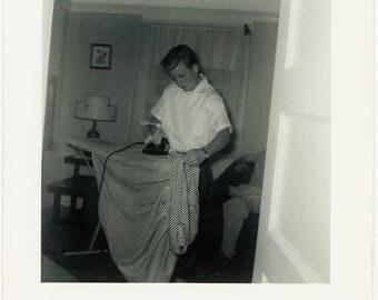 "Vintage Photo ""The Iron Man"" Snapshot Antique Black & White Photograph Found Paper Ephemera Vernacular Interior Design Mood - 127"