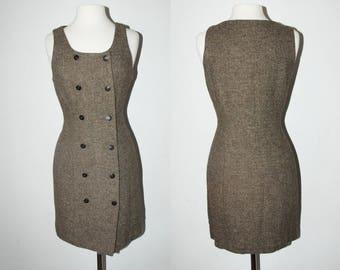 VINTAGE Ann Taylor Wool Blend Dress / Size Medium