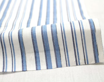 Japanese Yukata Fabric. Woven Blue and White Striped (Ref: 1804)