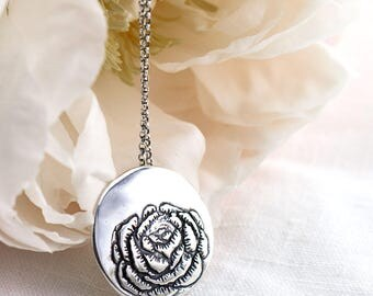 Peony Flower Necklace
