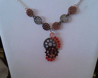 Steam Punk Gear'd Up Necklace