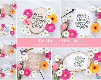 NEW! The Marble + Floral Styled Photo Bundle