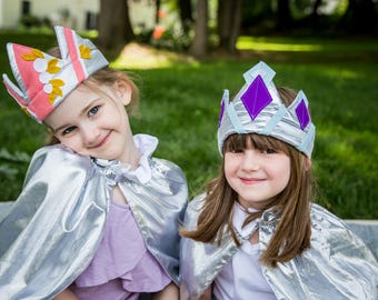 Princess Crown //  Baby Safe Felt Jewels // for babies - age 10 // stretches for a perfect fit