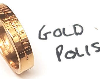 Wedding Ring Red Gold with Ogham engraving