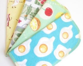 Cloth Napkins--Set of 4--Fun Foods Mix--Regular--Ready to Ship