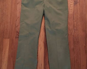 1950s Official Boy Scouts of America Vintage Pants - Men's Size