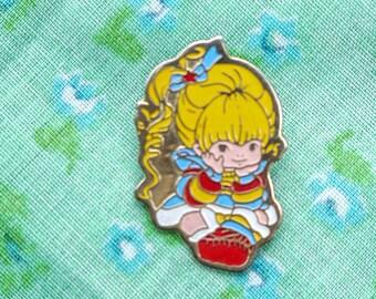 vintage 80's rainbow brite pin
