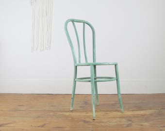 Vintage Industrial Chair,metal Chair,bentwood Chair,rustic,farmhouse  Antiques,bistro