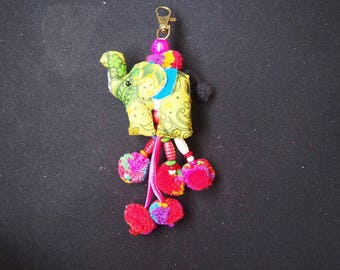 Thai handmade elephant Key-chain/ KC-033/Lobster keychain/Elephant keychain/Handmade keychain/Father's day gift for him/For dad/Summer keych
