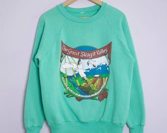 Vinge 1980's/90's Skagit Valley Washington Sweatshirt L