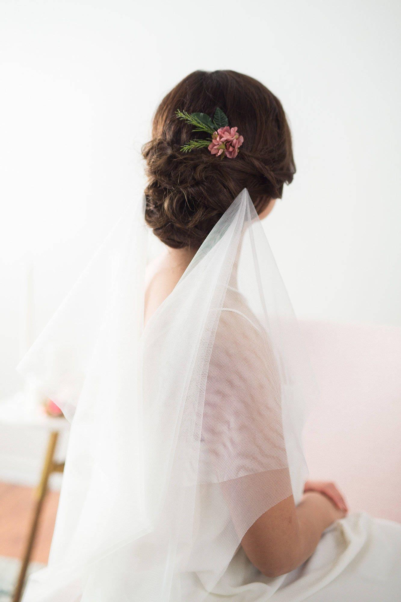 Flower Hair Pin Pink Wedding Headpiece Blush Rose Clip Comb Bridal