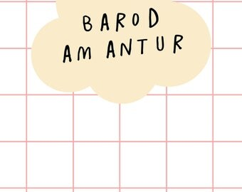 Barod Am Antur Welsh Text  Ready for a Adventure Digital Art Print A4