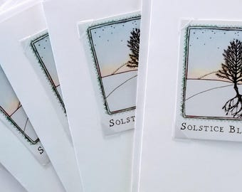 Solstice Blessings - Blank Greeting Card