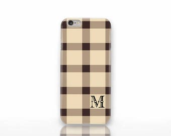 Rustic monogrammed iPhone case-Fall plaid iPhone X case-iPhone 8/8 Plus case-iPhone 7/7 Plus-iPhone 6/6 Plus case-iPhone 5/5S-Galaxy-NP3D220
