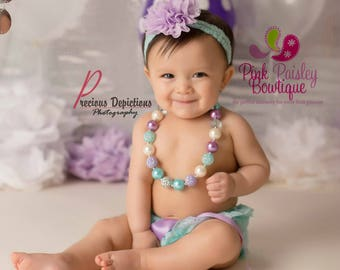 Cake smash outfit - Ruffle Diaper Cover- 6, 8, 9 month Sitter Photos - Baby Girl Photo Outfit- Baby Bloomer Set -Ruffle Baby Diaper cover