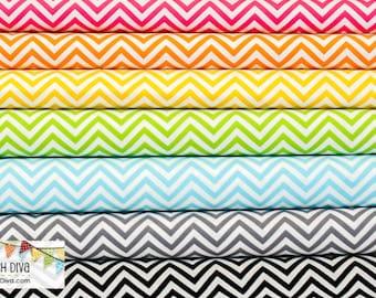 Remix Skinny Chevron Fat Quarter Bundle (7 Fabrics Total)