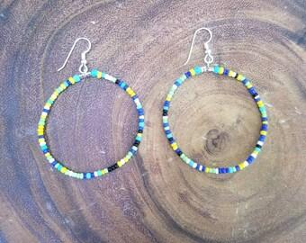 CUSTOMER ORDER for Lara - Multicolor Hoop Earrings