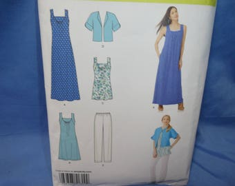 Simplicity 1809,Sleeveless Dress, Top, Pants, Sewing Pattern, XXS - XXl, uncut