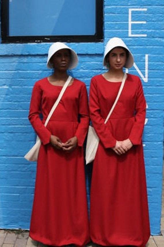 Handmaid's Tale Costume - Dress, bonnet, and bag