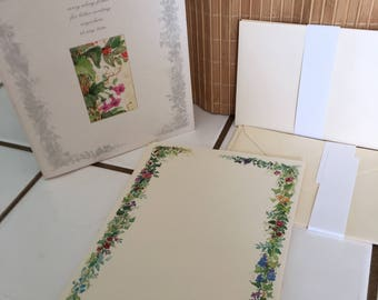 """Vintage 90's  """"HALLMARK - STATIONERY PORTIFOLIO""""   a  Carry Along Folder for Letter Writing Anywhere"""