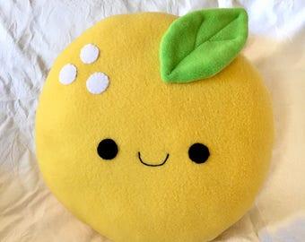 Kawaii Orange Plush Cushion