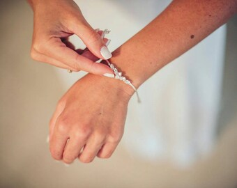 Wedding Bracelet, Bridal Bracelet, Silver Bridal Jewelry, Silver Wedding Bracelet, Swarovski Bracelet, Boho Wedding Bracelet, CZ Bracelet