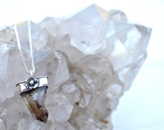 Morning Dew Collection || Smoky Citrine Crystal Twin Necklace