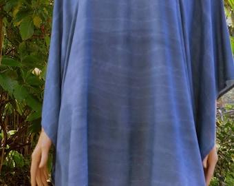 Hand dyed Kaftan, Short Dress, Caftan, Top